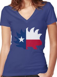 Texas Libertarian Party Porcupine Women's Fitted V-Neck T-Shirt