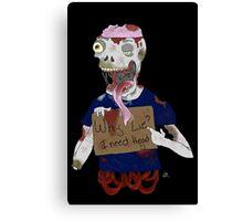 Zombie 3 Canvas Print