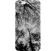 Tree branches Black and White iPhone Case/Skin