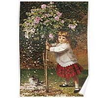 Vintage famous art - James Hayllar - The Rose Tree Poster