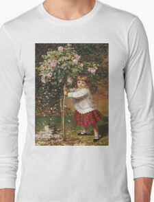Vintage famous art - James Hayllar - The Rose Tree Long Sleeve T-Shirt