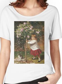 Vintage famous art - James Hayllar - The Rose Tree Women's Relaxed Fit T-Shirt