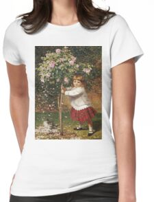 Vintage famous art - James Hayllar - The Rose Tree Womens Fitted T-Shirt