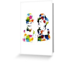 Color Stanlio & Ollio Greeting Card