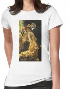 Vintage famous art - James Tissot - The Ball Womens Fitted T-Shirt
