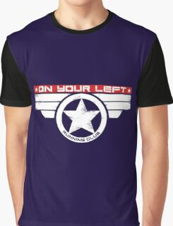 """On Your Left Running Club"" Hybrid Inverted Graphic T-Shirt"