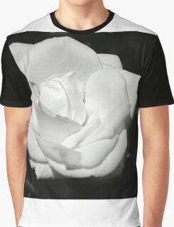 Heart Petal White Rose Graphic T-Shirt