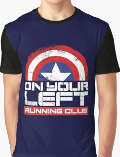 """On Your Left Running Club"" Version 02 Graphic T-Shirt"