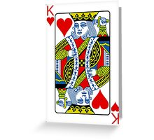 King of hearts Greeting Card