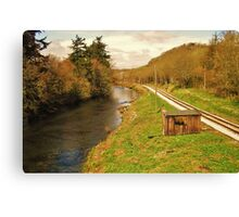 by the river side  Canvas Print