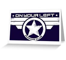 """""""On Your Left Running Club"""" Distressed Print 2 Greeting Card"""