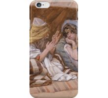 Vintage famous art - James Tissot - Abram S Counsel To Sarai iPhone Case/Skin