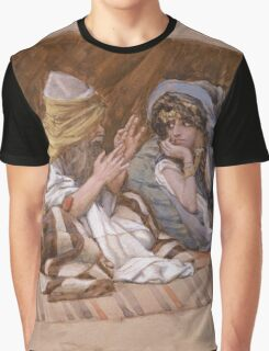 Vintage famous art - James Tissot - Abram S Counsel To Sarai Graphic T-Shirt