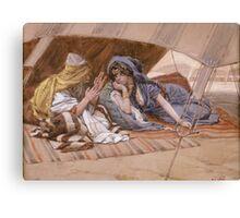 Vintage famous art - James Tissot - Abram S Counsel To Sarai Canvas Print