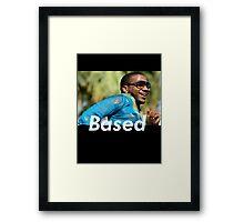 basedgod lil b Framed Print