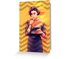 Twin Peaks Audrey Horne David Lynch's 90's Tv Series Greeting Card