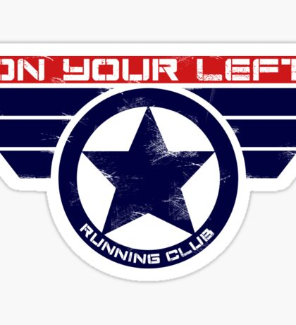 """On Your Left Running Club"" Hybrid Sticker"