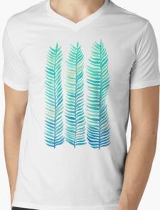 Seafoam Seaweed Mens V-Neck T-Shirt