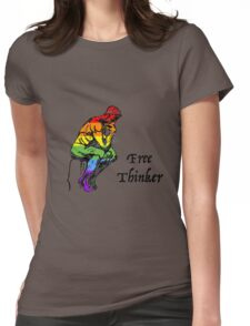 Free Thinker - Rainbow / Pride Womens Fitted T-Shirt
