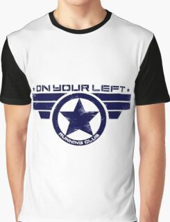"""On Your Left Running Club"" Hybrid Distressed Print 1 Graphic T-Shirt"