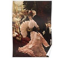 Vintage famous art - James Tissot - Political Woman Poster