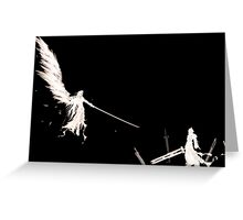 One Winged Angel - Sephiroth - Cloud Strife - Final Fantasy Greeting Card