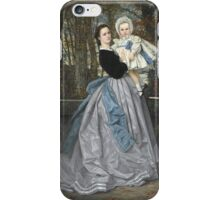 Vintage famous art - James Tissot - Portrait Of The Marquis And Marchioness Of Miramon And Their Children1865 iPhone Case/Skin