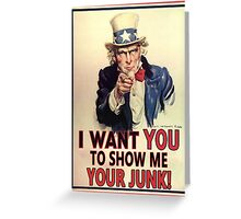 UNCLE SAM - NC BATHROOM LAW Greeting Card