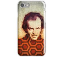 Jack Nicholson art in Stanley Kubrick's The Shining iPhone Case/Skin