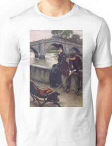 Vintage famous art - James Tissot - Richmond Bridge Unisex T-Shirt