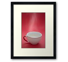 One steaming hot coffee cup! Framed Print