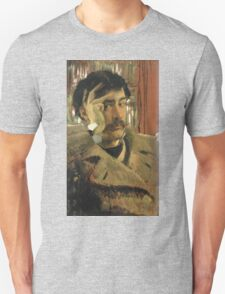 Vintage famous art - James Tissot - Self Portrait Unisex T-Shirt