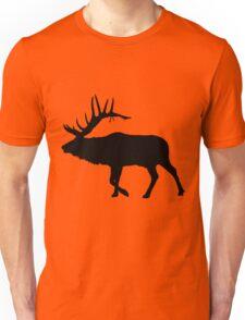 Bull Elk Silhouette  Unisex T-Shirt