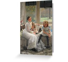 Vintage famous art - James Tissot - Smith Gill And Two Of Her Children Greeting Card