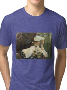 Vintage famous art - James Tissot - The Fan  Tri-blend T-Shirt
