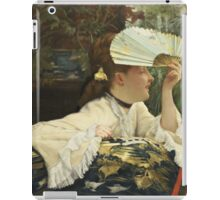 Vintage famous art - James Tissot - The Fan  iPad Case/Skin