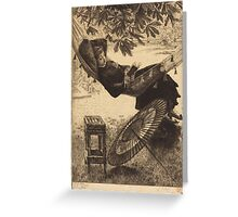 Vintage famous art - James Tissot - The Hammock  Greeting Card