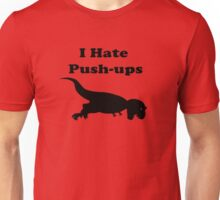 I Hate Keeping Fit & Exercise T-Shirt - Rex Sticker Unisex T-Shirt