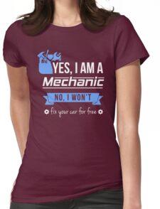 Mechanic Womens Fitted T-Shirt