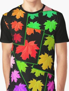 AUTUMN LEAVES FRAGMENTED Graphic T-Shirt