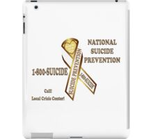 Prevent Suicide Ribbon Banner iPad Case/Skin