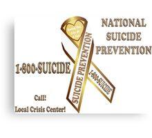 Prevent Suicide Ribbon Banner Metal Print