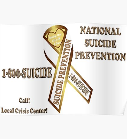 Prevent Suicide Ribbon Banner Poster