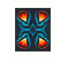 Floral symmetry 2. Art Print