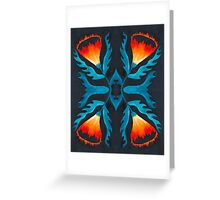 Floral symmetry 2. Greeting Card