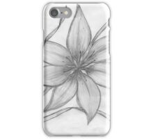 Lily,Pencil Drawing,  iPhone Case/Skin