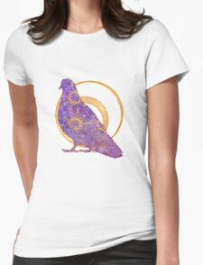 Pop Painted Watercolor - Bright and Bold purple and gold pattern Womens Fitted T-Shirt