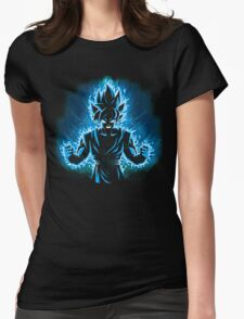 God Blue Womens Fitted T-Shirt