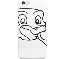 tongue face head sweet little cute baby snake child comic cartoon iPhone Case/Skin