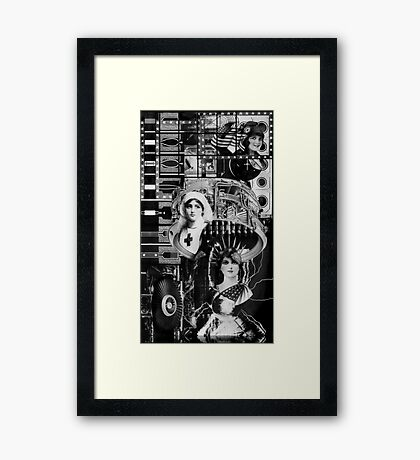 Parisian Statue with Machine Gun. Framed Print